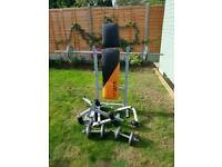 V-Fit workout bench with 40kg weights