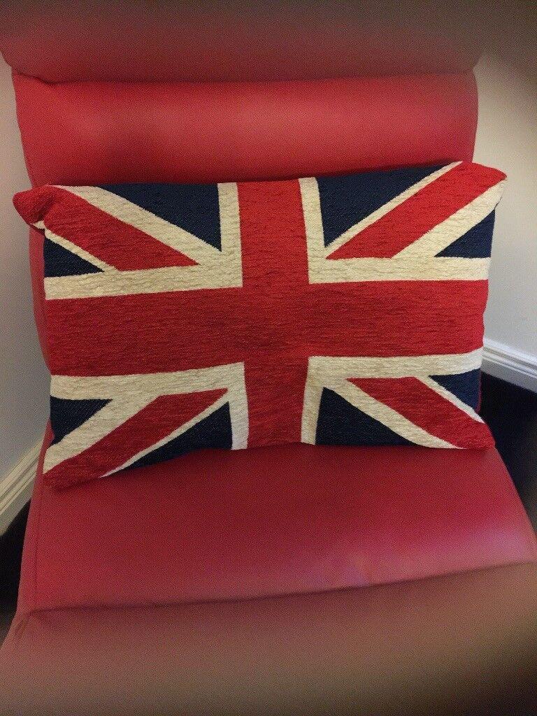 Union Jack Rug Cushion