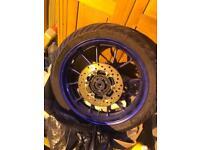 Yamaha R125 rear wheel