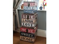 Stunning Set of 3 Sturdy Home Storage Boxes