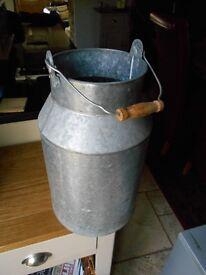 Metal milk churn