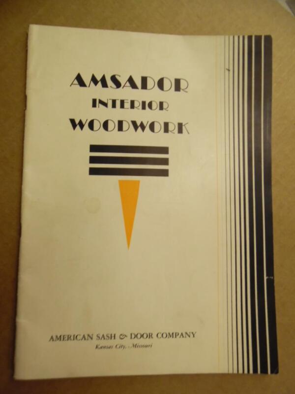 c.1935 American Sash & Door Co Amsador Woodwork Millwork Catalog Kansas City MO
