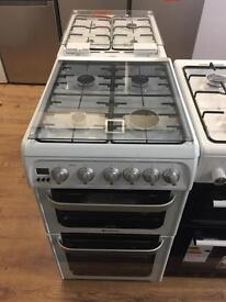 New Ex-Display Hotpoint HUG52P 50cm gas cooker in white £249