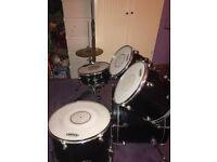 Used Black Leedy NRG Drum Kit
