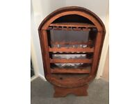Wooden Mexican wine rack holds 21 bottles