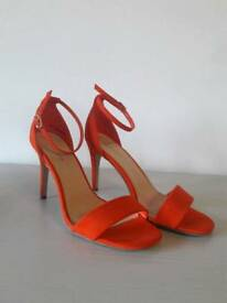 New Look Orange heels. Size 7