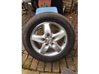 """Porsche Alloy Wheels 18"""" with Turanza tyres. 4No"""