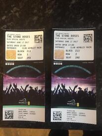 Stone roses tickets x2 together premium