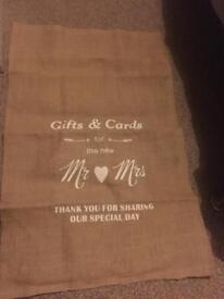 Hessian wedding sack