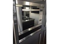 BOSCH INTEGRATED MICROWAVE + OVEN + GRILL BRUSHED STAINLESS STEEL SPARES OR REPAIR