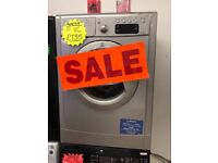 INDESIT 7KG DIGITAL SCREEN WASHING MACBINE IN SILIVER