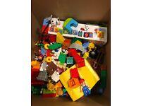 Mixed box of duplo lego