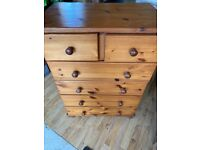 SOLD. Pine Chest of Drawers