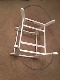 Mothercare White Rocking Moses Basket Stand