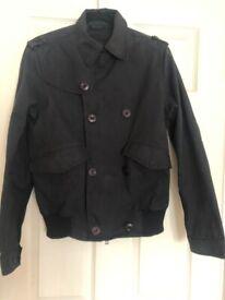 Men's MAHARISHI HARDY BLECHMAN Black Waterproof Jacket – Size Small