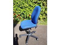 Blue office desk chair