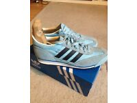 ADIDAS SL72 Trainers Sky Blue / Navy - size 8