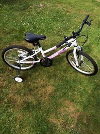 "Apollo Envy Girls Bike Bicycle 20"" Inch Wheels Steel Frame in White"