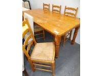 Large Solid Pine Table and 6 Chairs…30175