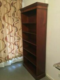 Antique Mahogany Bradley Library Handmade Bookcase Shelf Unit with Height Adjustable Shelves VGC