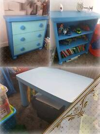 Ikea Mammut drawers bookcase and table