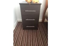 Two x chest of drawers only £20 - dark brown