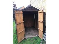 Wooden shed 6ft x 8 ft in Bradford West Yorkshire