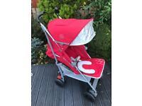 Red Maclaren Techno XT Stroller