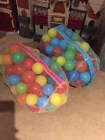 2 bags of play pit balls