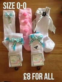 Handmade frilly socks