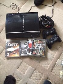 Ps3 not used much with 4 games plus a few on the hard drive