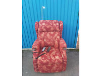 Mobility electric riser recliner chair with built in reading lamp and massage system