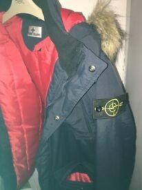 Stone island parka jacket