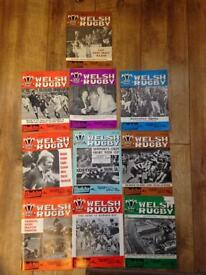10 Welsh Rugby Magazines.