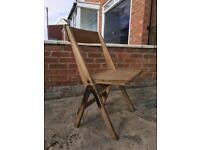 Antique vintage oak folding chairs. X4