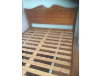 pine kingsize bed , buyer to transport