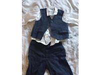 M&S baby boys suit 9-12 months