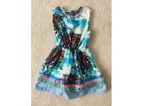 Girls NEXT Print Dress Age 8 Years