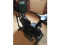 2 in 1 exercise bike and cross trainer