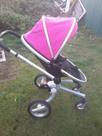 Pink silvercross surf pushchair