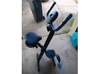 Folding WER magnetic exercise bike