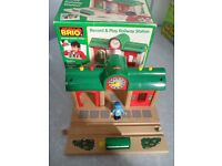 BRIO BOXED Record & Play Station 33578 for Thomas Tesco etc Train Track - BARGAIN £20! CAN POST