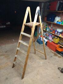 Old wooden decorators ladder - still plenty of life left in it