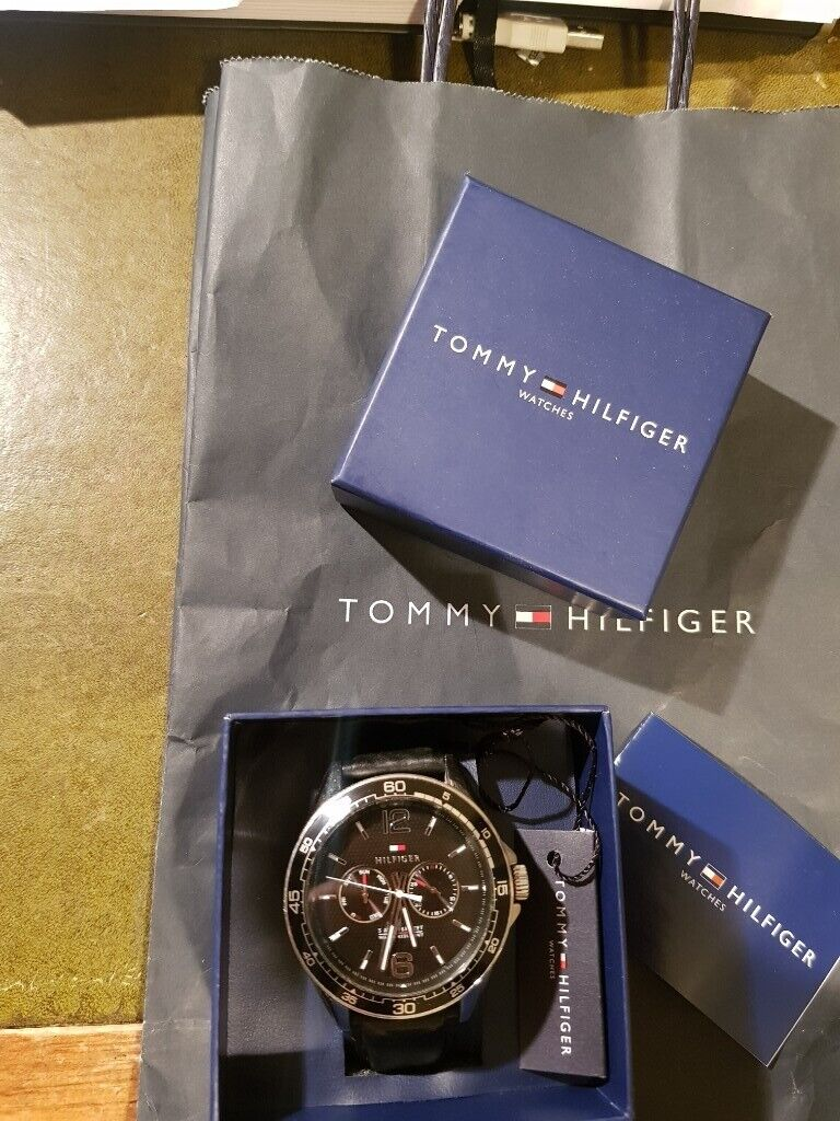 ad40a223ab7e Tommy Hilfiger mesn watch - good condition with box  tag  manual