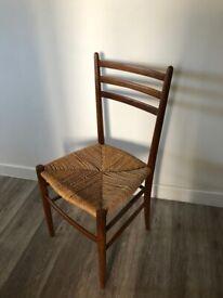 Mid Century woven teak chairs x 2
