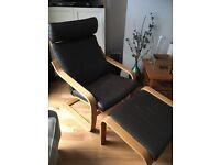 Ikea Chair & Footstool