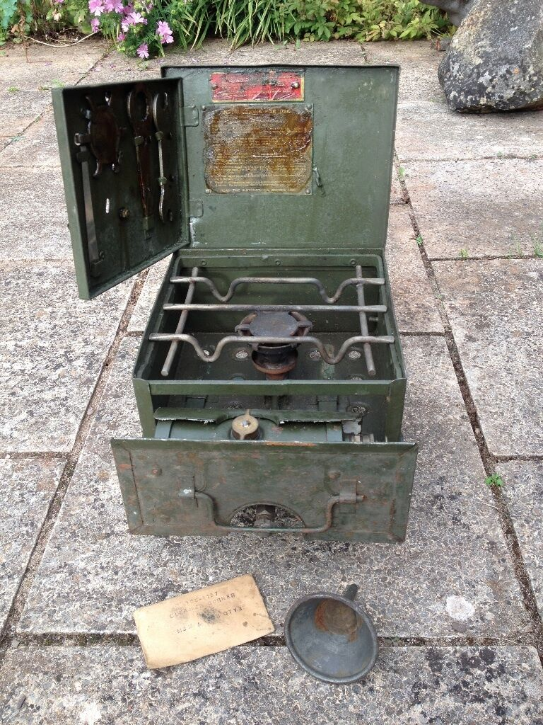 vintage ww2 british army no 2 petrol cooker stove in. Black Bedroom Furniture Sets. Home Design Ideas