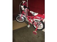 Girls Bike aged 5/6. In great condition,only been used 3 times outside.