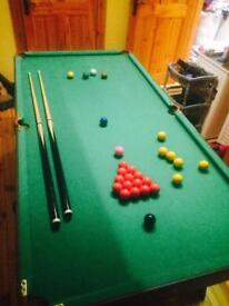 Snooker table 6ftX3ft