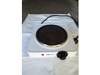 Single electric hob. Free standing.